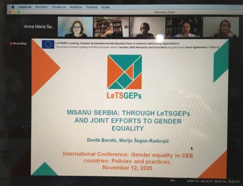 "MISANU presented its LeTSGEPs experience at the international conference on ""Gender equality in CEE countries"""