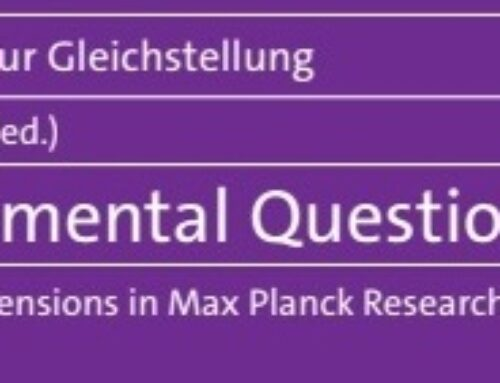 """A new, important book: """"Fundamental Questions. Gender Dimensions in Max Planck Projects"""""""